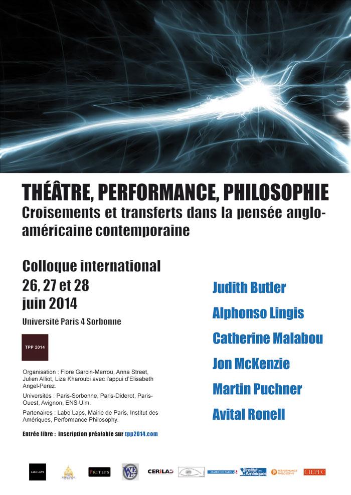 Théâtre, Performance, Philosophie : croisement et transfert dans la pensée anglo-américaines