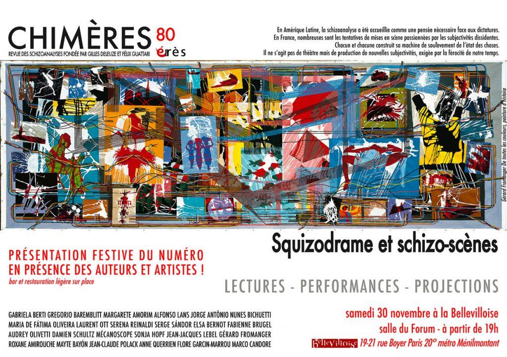Squizodrame et schizo-scènes revue Chimères soirée Bellevilloise